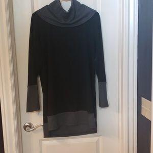 Turtle neck tunic dress